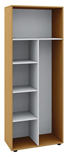 """VCM Schrank Universal Staubsauger Besenschrank Mehrzweckschrank Putzschrank Holz buche 178 x 70 x 40 cm \""""Vandol\"""""""
