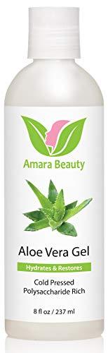 Aloe Vera Gel de l'Aloe Bio Pressé Bio - 100% Naturel pour le Visage, le Corps et les Cheveux - 237 ml