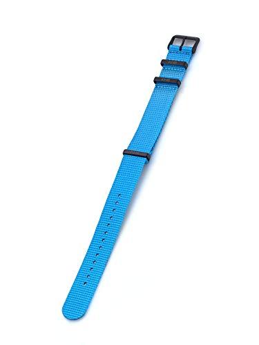 KHS Natoband KHS.EBNBL.22 Blau, 22 mm