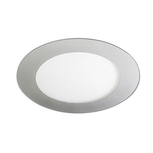 Wonderlamp Downlight Led 20W -extraplano redondo- color gris. Luz blanca (4200ºK). 1480...
