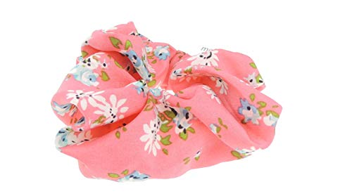 Haargummi für Damen und Mädchen, Retro-Blumen-Druck, elastisch