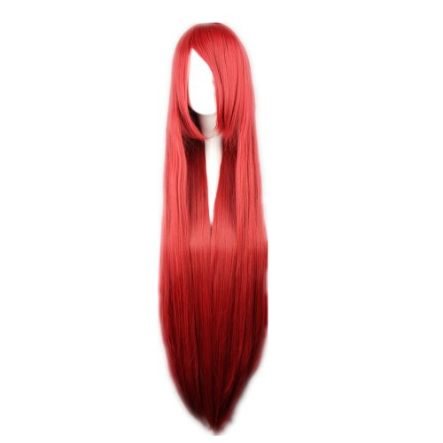 COSPLAZA Cosplay Wig Kostueme Peruecke black butler Grell Sutcliff Weinrot 100cm lang (Kostüm Cosplay Grell)