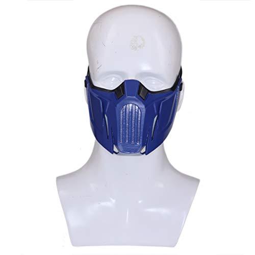 Spiel MK 11 Cosplay Kostüm Harz halbes Gesicht Helm für Erwachsene Herren Kleidung Zubehör ()
