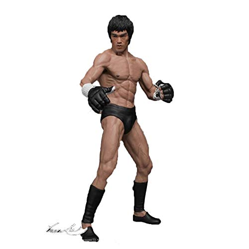 DUDDP Anime Charakter Anime Modell Bruce Lee Chinesische Kung Fu Bruce Lee Statue 1/12 Boxed Charakter Bewegliche Statue Dekorationen/Geburtstagsgeschenk 19 cm Comic-Statue