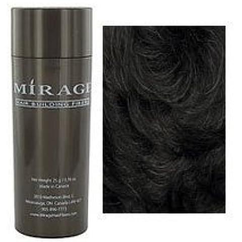 Mirage Hair Building Fibers, Black, 25g / 0.78 oz. by Mirage