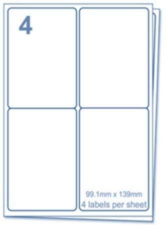 EJrange étiquettes d'adresse (100 feuilles, 4 étiquettes)