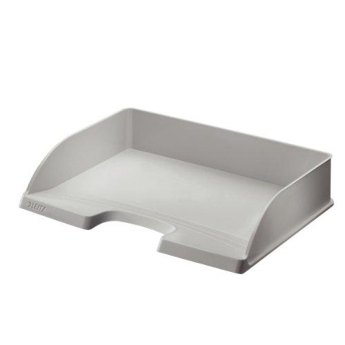 Standard-stapelbar (Leitz 52180085 Briefkorb Standard Plus, A4 quer, Polystyrol, grau)