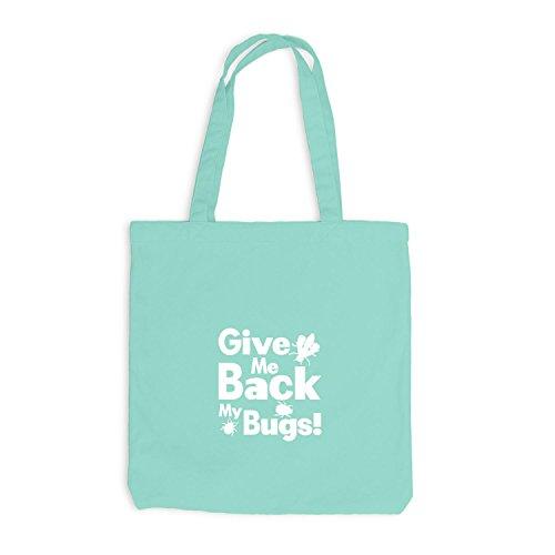 Jutebeutel - Give Me Back my bugs - Fun Style Käfer Mint