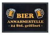 Die witzige Fußmatte - 24 Stunden Bier Annahmestelle