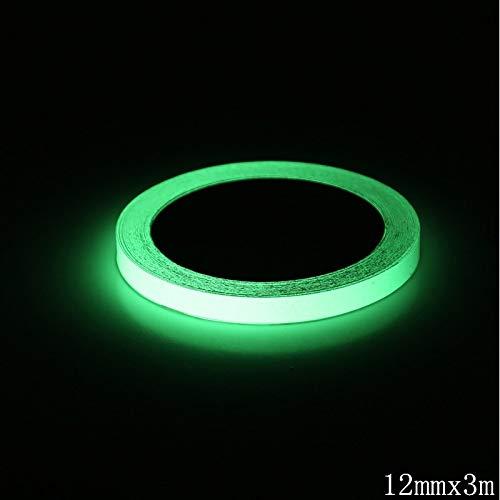 LELTWS 2 Rolle 3 M Hohe Helligkeit Grün Leuchtende Band Self-Adhesive Selbst-Leuchtstoff Bänder Für Nachtsicht Glow In Dark Sicherheits Warnung