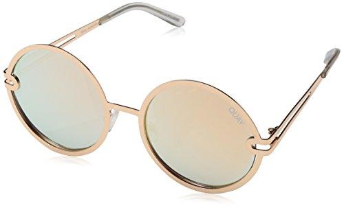 Quay Eyewear Damen Sonnenbrille Ukiyo, Gold/Rose, 135