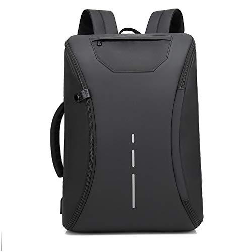 JFQ-Gold Reise-Laptop-Rucksack, Business-Rucksack-Tasche mit USB-Ladeanschluss, Leichter wasserdichter Schulrucksack, passend für 15,6-Zoll-Laptop,B