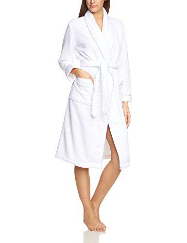 Calida Damen Bademantel After Shower, Einfarbig, Gr. 34 (Herstellergröße: XXS 34), weiß (weiss 001)