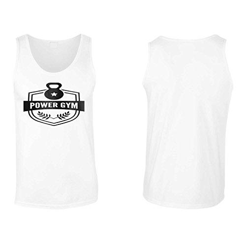 Power Gym logo sportiva della novità canotta da uomo p81mt White