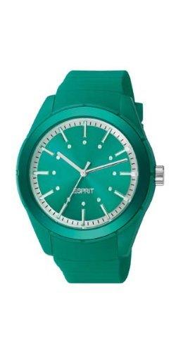 Esprit A.ES900642013 - Reloj analógico de cuarzo unisex con correa de silicona, color verde