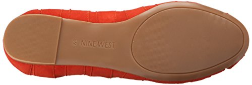Nine West Munchkin Suede Ballet Flat Red Suede