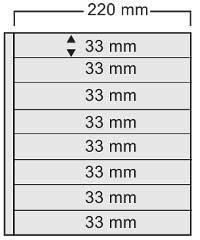 10 x SAFE 458 SCHWARZE FOLIEN EINSTECKBLÄTTER Compact DIN A4 BEIDSEITIG NUTZBAR - MIT 8 KLEMMSTREIFEN 30 x 210 mm GLASKLAR - FÜR ALLE SAFE Compact RINGBINDER A4 - 480 - 481 - 4880 - 5100 - 5440 ----- Ideal für Briefmarken & Zigarrenetiketten usw.