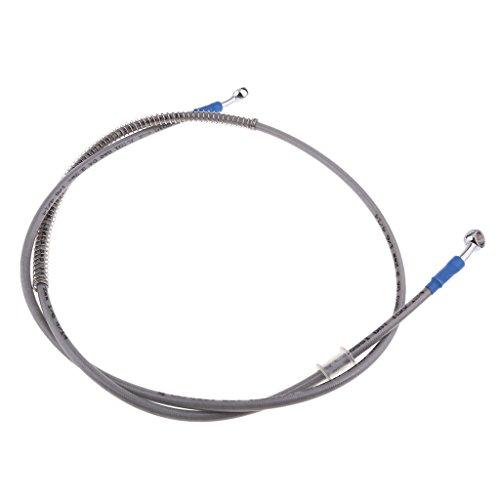 Sharplace 1 Stück Motorrad-Bremsöl Schlauch-Leitungs-Montage Brems Kupplungsöl Schlauch Rohr für Motorrad - Silber 140cm