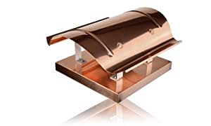 Lübke Kaminhaube Typ 14 (Sattel Welle) 2600mm x 400mm, 1mm Kupfer