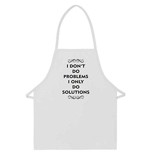 Delantal frase inspiradora «I don't do problems only