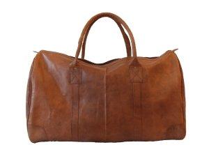 XL RIESIGE Vintage Design Weekender Tasche aus Leder. Große XXL Reisetasche für Herren und Damen in braun