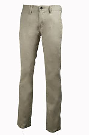 Tom Tailor Herren Chino Hose Marvin Slim Fit Low Waist, Farbe Beige, Größe W32/L32