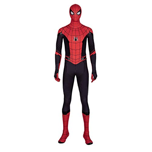 Spiderman Held Expedition Cosplay Kostüm Spiderman Neue Onesies Komplettset Halloween-Kostüme,Red-XXXL (Spiderman Kostüm Schuhe)