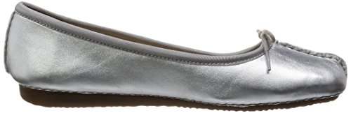 Clarks - Freckle Ice, Mocassino da donna Argento (Silver Leather)