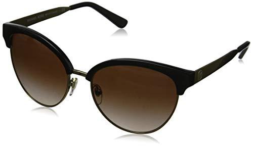 Michael Kors Damen AMALFI 330513 56 Sonnenbrille, Black/Gold-Tone/Smokegradient,