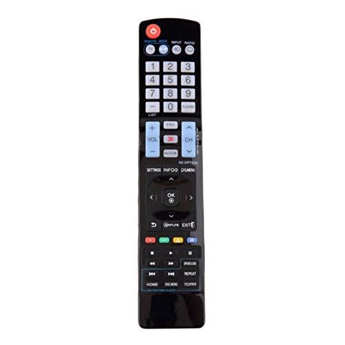 LouiseEvel215 Reemplazo de Control remoto de plástico Negro para LG LCD HDTV 3D Smart TV.No requiere programación 22 Lcd-hdtv