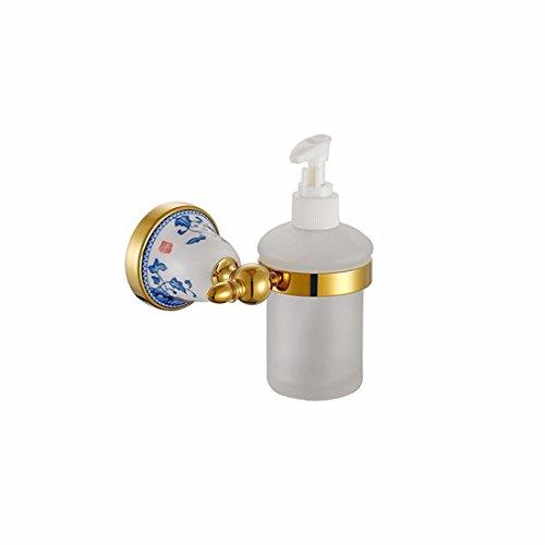 LHbox Tap Kupfer Titan Gold Keramik Base Badezimmer Zubehör Handtuchhalter Bürste Becherhalter Toilettenpapier, Seifenspender (Bürsten-nickel-seifenspender)