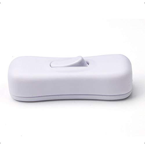 Wippschalter, 304 Schalter Tischleuchte Midway Taste Us-Style Ship-Shape Wippschalter Adapter auf/Selbst Druckknöpfe Angewendet auf Elektrisch Geräte, Lampen, Fußboden Lampen (Schwarz) - Weiß