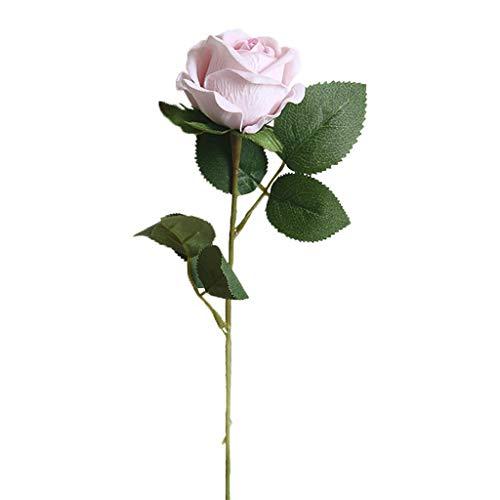 Hniunew Möbel Indoor Blumen Seidenblumen Kunstblumen KüNstliche Orchidee Wie Echt ImmergrüN Zimmerpflanzen Pearl Fleece Rose KüNstliche Blume Bouquet Blumenstrauß Bridal Braut Hortensie Dekor