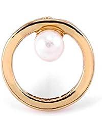AI.NI Perla perla redonda geométrica con aretes de diamante niñas personalidad temperamento salvaje, Pearl Earrings Retro Tornillos del anillo del oído