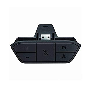 Leegoal Xbox One Stereo Kopfhörer Adapter für Xbox One Game Controller Spiel Audio Chat Mikrofon für Microsoft Xbox One Controller (Schwarz)
