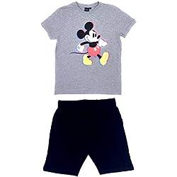 Mickey Mouse, Pyjama Court Homme, Gris Clair, L