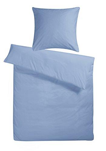 c10e09ca65 Carpe Sonno Kühle Mako-Satin Bettwäsche in exklusiver Hotelqualität 200 x  200 cm Taubenblau Blau aus 100% Baumwolle für besten Schlafkomfort ...
