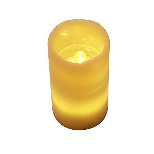 Wawer Weihnachtsbeleuchtung Flammenlose Kerzen LED-Kerze-Lichter Flammenlose Projektion Flackernde LED Teelichter Fernbedienung Weihnachtsdeko 4 Modi (Schneeflocke) - 4h 4 Licht