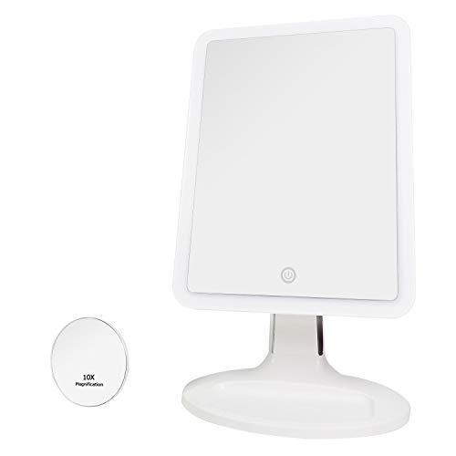Auxmir Kosmetikspiegel Beleuchtet mit 2X Vergrößerung, Ultra großer beleuchter Tischspiegel...
