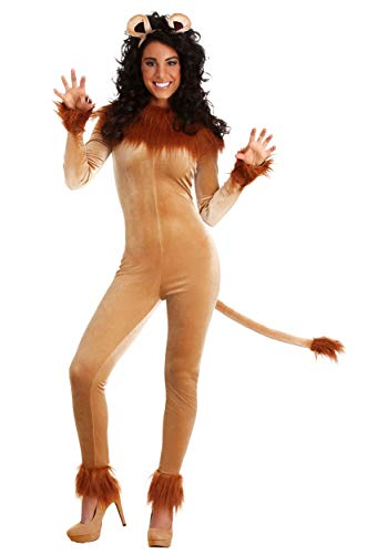 Fierce Lion Fancy Dress Costume Women's Large