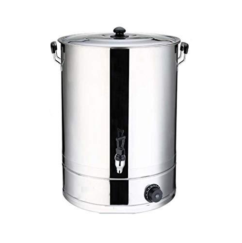 Edelstahl Catering Warmwasser/Tee Urne |Durchlauferhitzer, Boiler und Dispenser |Geeignet for Gewerbe/Büro |Doppelwand isoliert (Color : Silver, Size : 30L) -