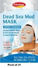 10 x Schaebens Totes Meer Gesichtsmaske von Schaebens - gegen Pickel und Mitesser (10 x 15mL)