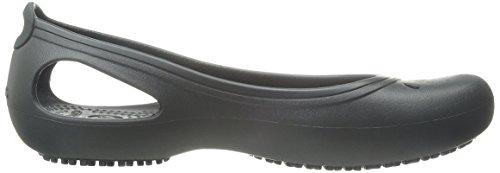 Crocs Kadee Work Flat, Ballerine Donna Nero (Black)