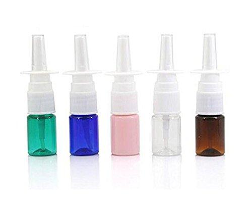 6 mini botellas de plástico vacías de 5 ml rellenables para spray de nasal, contenedor de frascos de pulverizadores finos para aceites esenciales, perfumes de viaje y coloidales, aplicaciones de plata, salina y color al azar (precio: 5,75€)