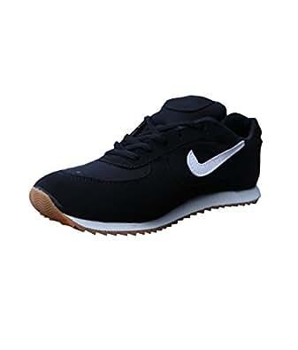 T-Rock Men's Unisex Black Running Shoe (6, Black)