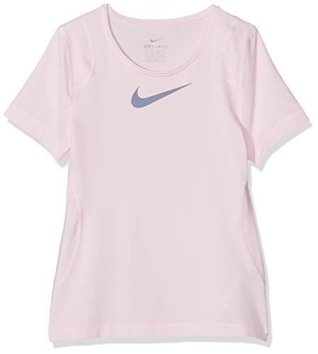 Nike Mädchen G NP TOP SS T-Shirt, Pink Foam/Ashen Sl, S -