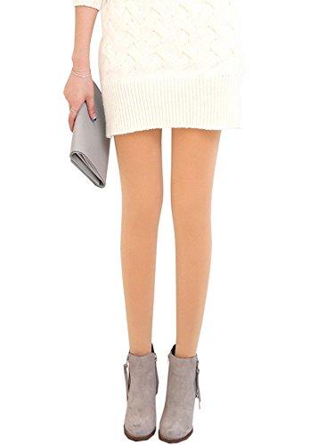 KaKing Damen Strumpfhose Winter Dicke Warme Leggings (eine größe, Hautfarbe-1)