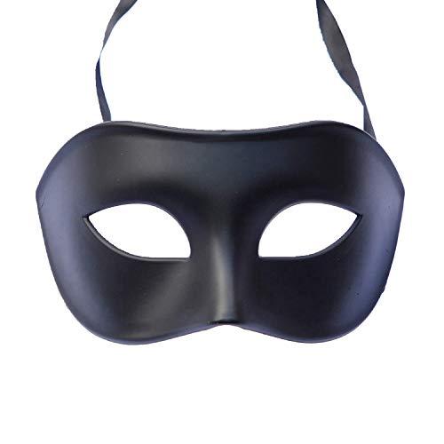 RXBC2011 Maskerade Kostüm Maske schwarz für Männer Frauen -