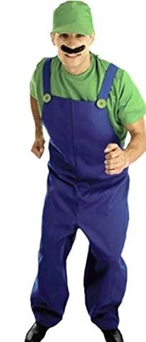 M. Costume Toad - erdbeerloft–Messieurs Luigi Super Mario, M–XL, Vert -