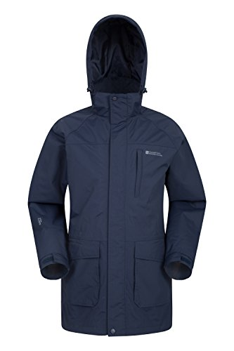 Mountain Warehouse Glacier Extreme Herren Lange Wasserdichte Atmungsaktive Jacke mit Kapuze Anorak...